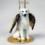 Kuvasz-Dog-Figurine-Angel-Statue-Hand-Painted-180637636585