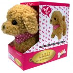 Labradoodle-Dog-Lifelike-Stuffed-Animal-Barking-Walking-Wagging-Electronic-Toy-181305248153