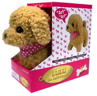 Labradoodle-Dog-Lifelike-Stuffed-Animal-Barking-Walking-Wagging-Electronic-Toy-181305248153
