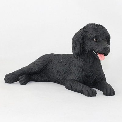 Labradoodle-Hand-Painted-Collectible-Dog-Figurine-Black-400679609853