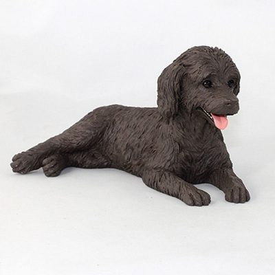 Labradoodle-Hand-Painted-Collectible-Dog-Figurine-Chocolate-181354144551