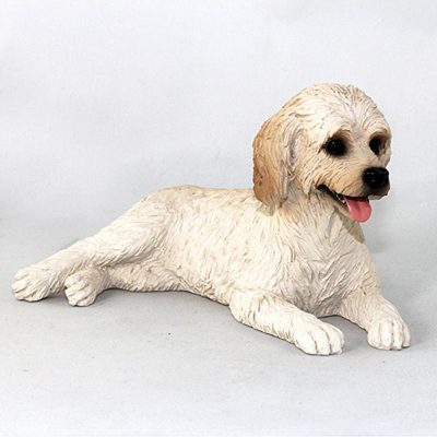 Labradoodle-Hand-Painted-Collectible-Dog-Figurine-Cream-400679610025