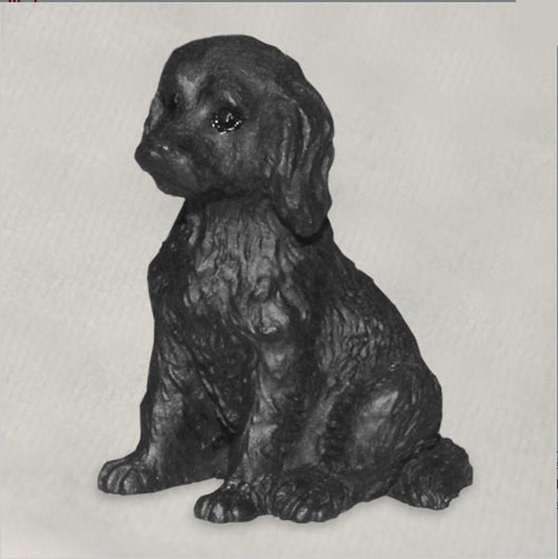 Labradoodle Mini Hand Painted Figurine Black