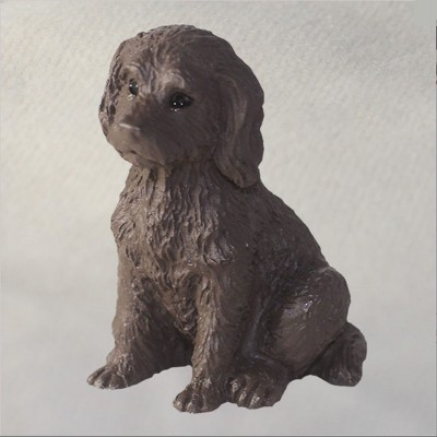 Labradoodle-Mini-Resin-Hand-Painted-Dog-Figurine-Chocolate-400602781270