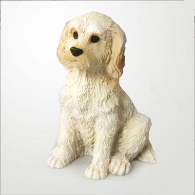 Labradoodle-Mini-Resin-Hand-Painted-Dog-Figurine-Cream-181350380937