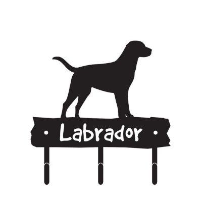 Labrador-Dog-Breed-Silhouette-Leash-Hook-Holder-Key-Rack-Metal-Figurine-400299517376