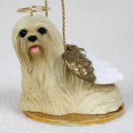 Lhasa-Apso-Dog-Figurine-Angel-Statue-Blonde-181337611877