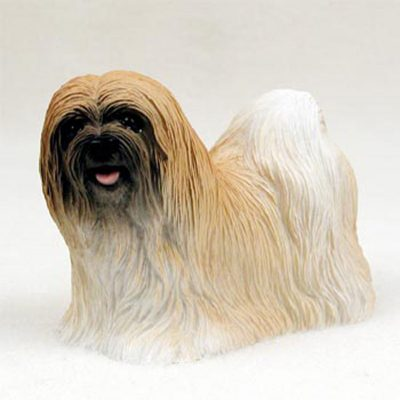 Lhasa-Apso-Hand-Painted-Collectible-Dog-Figurine-Brown-180675493750