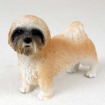 Lhasa-Apso-Hand-Painted-Collectible-Dog-Figurine-Brown-180689145337