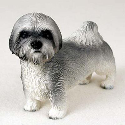 Lhasa-Apso-Hand-Painted-Collectible-Dog-Figurine-Gray-S-180689145354