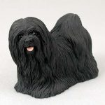 Lhasa-Apso-Hand-Painted-Dog-Figurine-Statue-Black-400201747900