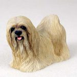 Lhasa-Apso-Hand-Painted-Dog-Figurine-Statue-Blonde-180638149744