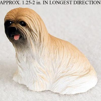 Lhasa-Apso-Mini-Resin-Dog-Figurine-Statue-Hand-Painted-Brown-400205070457
