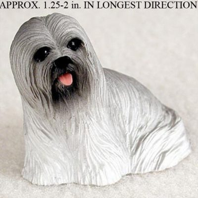 Lhasa-Apso-Mini-Resin-Dog-Figurine-Statue-Hand-Painted-Gray-180644348222