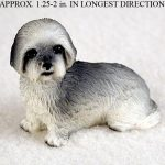 Lhasa-Apso-Mini-Resin-Dog-Figurine-Statue-Hand-Painted-Gray-Puppy-Cut-180644349584