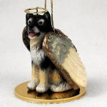 Malamute-Dog-Figurine-Angel-Statue-Hand-Painted-180637636716