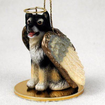 Malamute-Dog-Figurine-Angel-Statue-Hand-Painted-180637636716