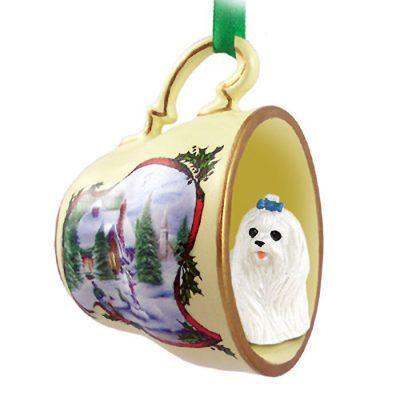 Maltese-Dog-Christmas-Holiday-Teacup-Ornament-Figurine-400589040088