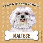 Maltese-Dog-Magnet-Sign-House-Is-Not-A-Home-Pup-Cut-181281419716