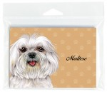 Maltese-Dog-Note-Cards-Set-of-8-with-Envelopes-Puppy-Cut-400694670958