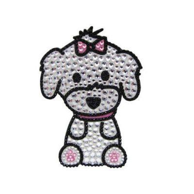 Maltese-Dog-Rhinestone-Glitter-Jewel-Phone-Ipod-Iphone-Sticker-Decal-181225901777