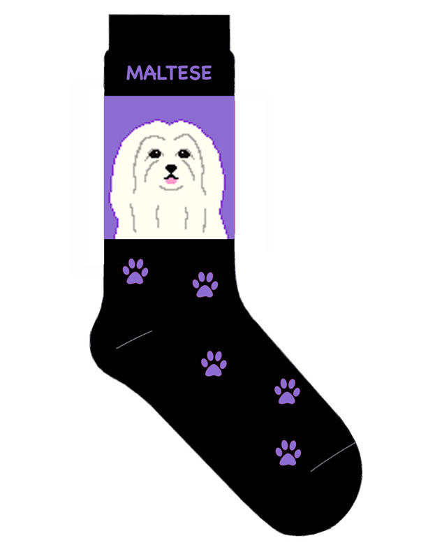 Maltese Socks Lightweight Cotton Crew Stretch Egyptian