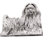 Maltese-Silver-Dog-Charm-Refrigerator-Magnet-Figurine-180839791238
