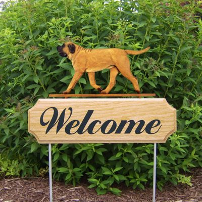 Mastiff-Dog-Breed-Oak-Wood-Welcome-Outdoor-Yard-Sign-Apricot-400706804871