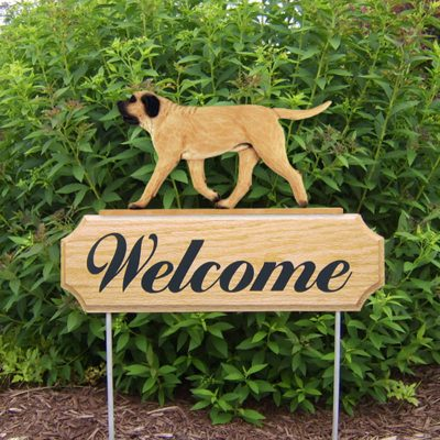 Mastiff-Dog-Breed-Oak-Wood-Welcome-Outdoor-Yard-Sign-Fawn-181404195456