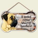 Mastiff-Dog-Sign-Wall-Plaque-Bone-Shape-Spoiled-Rotten-95-X-56-400280115654