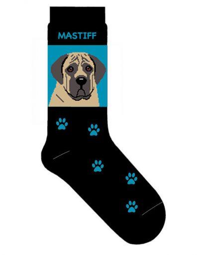 Mastiff Socks Lightweight Cotton Crew Stretch Egyptian