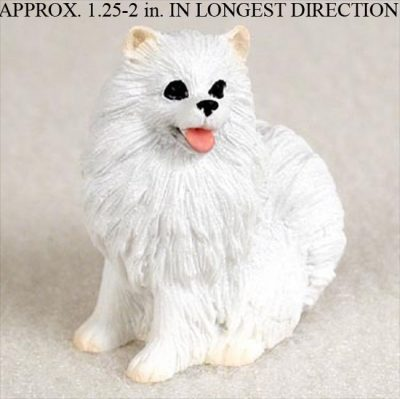 Mini-American-Eskimo-Mini-Resin-Hand-Painted-Dog-Figur-400220478366