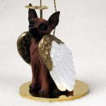 Mini-Pinscher-Dog-Figurine-Angel-Statue-Red-Brown-180637636821