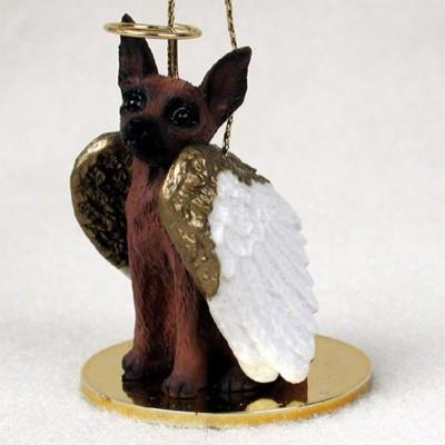 Mini-Pinscher-Dog-Figurine-Angel-Statue-Red-Brown-180637636821