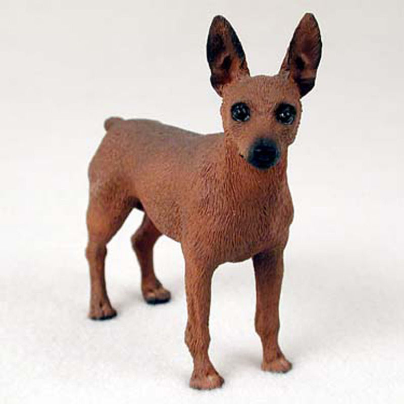 Mini Pinscher Hand Painted Collectible Dog Figurine Red Brown  eBay