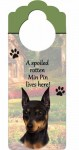 Miniature-Pinscher-Dog-Door-Knob-Handle-Hanger-Sign-Spoiled-Rotten-1025-x-4-181160024175