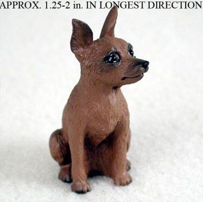 Miniature-Pinscher-Resin-Dog-Figurine-RedBrown-400205070964