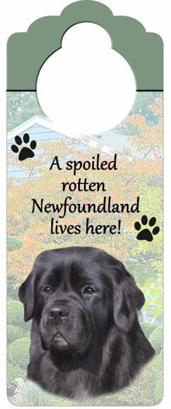 Newfoundland-Dog-Door-Knob-Handle-Hanger-Sign-Spoiled-Rotten-1025-x-4-400511445824