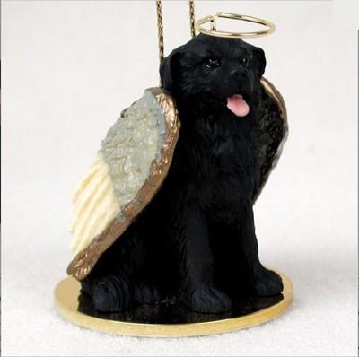 Newfoundland-Dog-Figurine-Ornament-Angel-Statue-Hand-Painted-400671441357