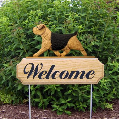 Norfolk-Terrier-Dog-Breed-Oak-Wood-Welcome-Outdoor-Yard-Sign-Black-Tan-400706805653