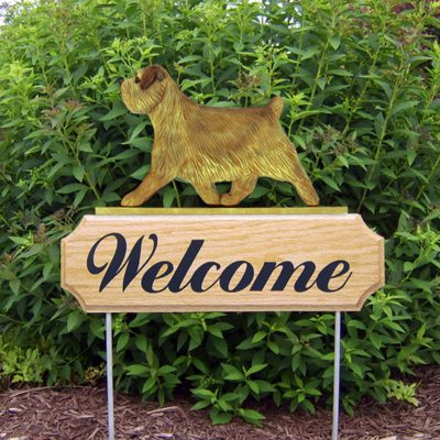 Norfolk-Terrier-Dog-Breed-Oak-Wood-Welcome-Outdoor-Yard-Sign-Grizzle-181404196679