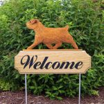 Norfolk-Terrier-Dog-Breed-Oak-Wood-Welcome-Outdoor-Yard-Sign-Red-400706806084