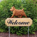 Norwich-Terrier-Dog-Breed-Oak-Wood-Welcome-Outdoor-Yard-Sign-Red-400706807719