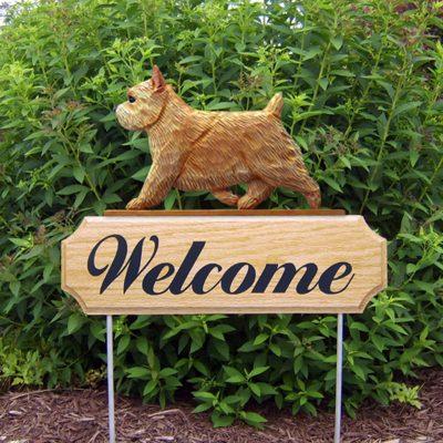 Norwich-Terrier-Dog-Breed-Oak-Wood-Welcome-Outdoor-Yard-Sign-Wheaten-400706807954