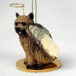 Norwich-Terrier-Dog-Figurine-Angel-Statue-Hand-Painted-180675006920