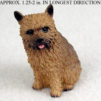 Norwich-Terrier-Mini-Resin-Hand-Painted-Dog-Figurine-Statue-400249634979
