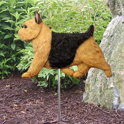 Norwich-Terrier-Outdoor-Garden-Dog-Sign-Hand-Painted-Figure-Black-Tan-400688312115