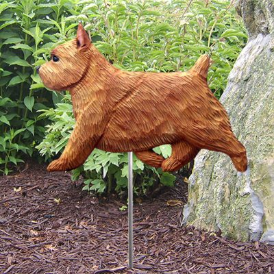 Norwich-Terrier-Outdoor-Garden-Dog-Sign-Hand-Painted-Figure-Red-400688312419