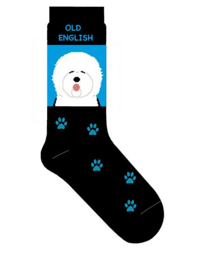 Old English Sheepdog Socks Lightweight Cotton Crew Stretch