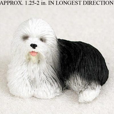 old english sheepdog mini hand painted figurine